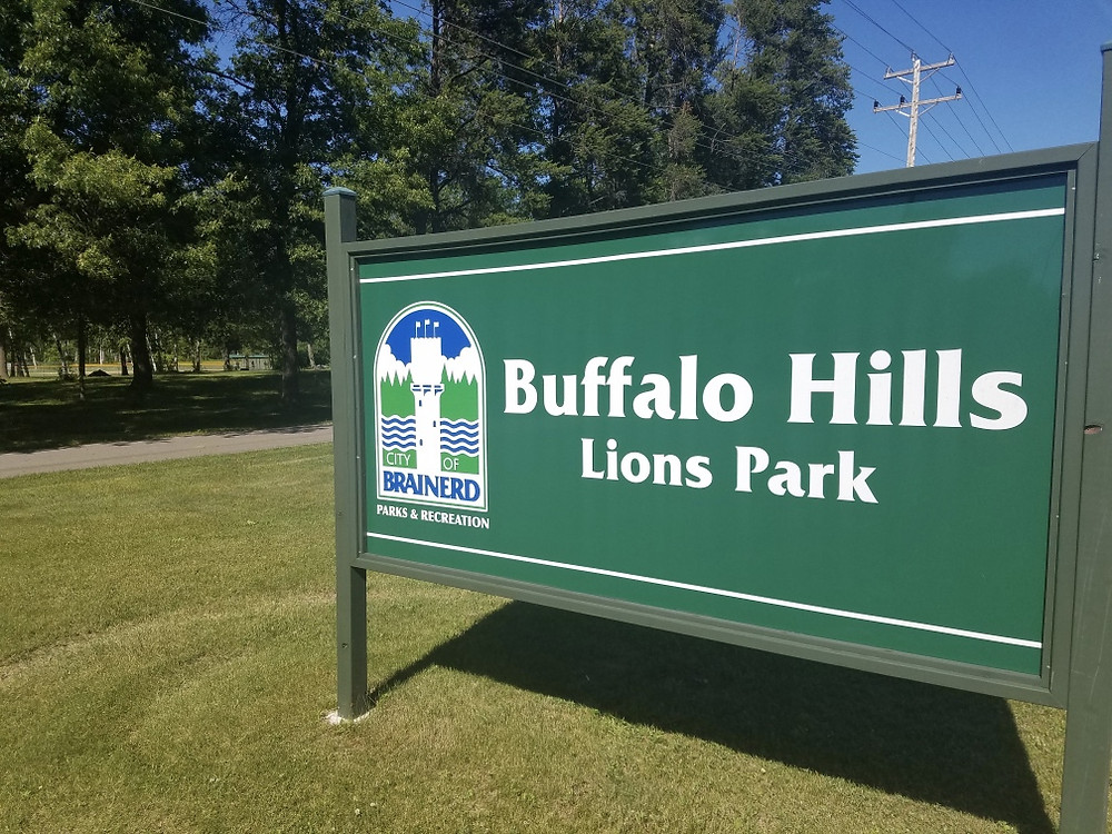 Buffalo Hills Lions Park Sign Brainerd Minnesota