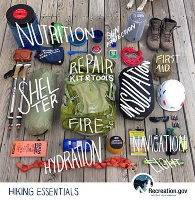 Hiking Essentials Infogratphic