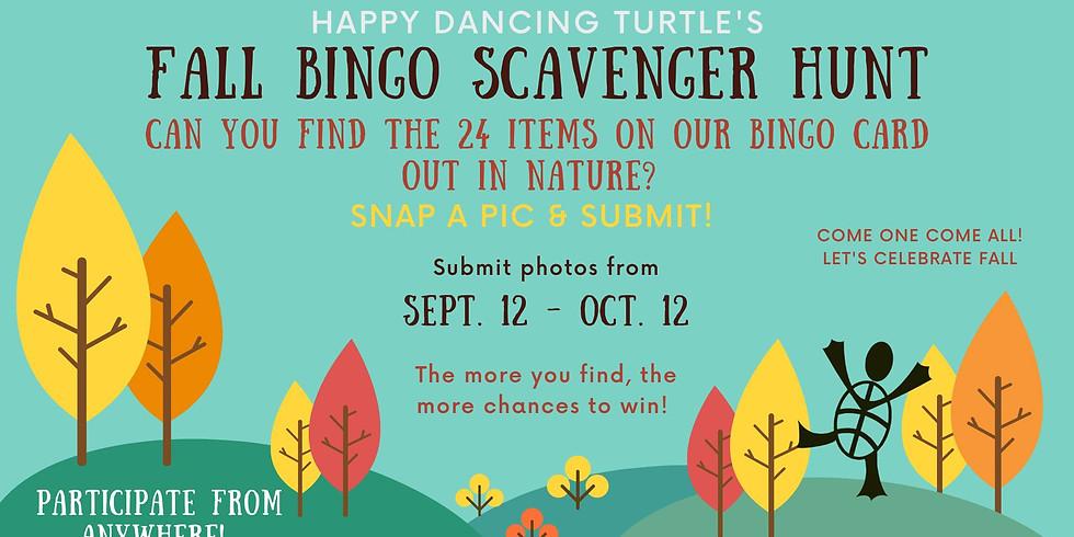 Fall Bingo Scavenger Hunt!