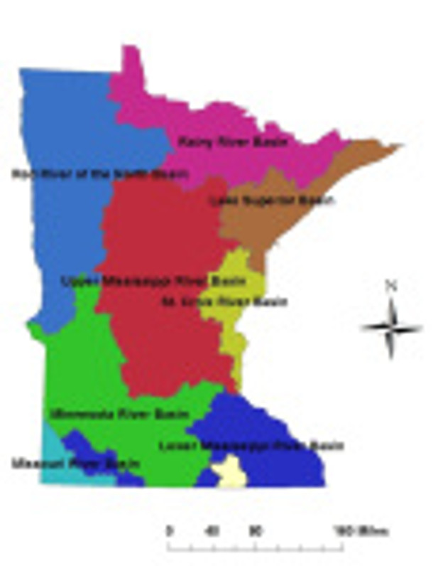 Minnesota has eight distinct watersheds, which are comprised of smaller watersheds.