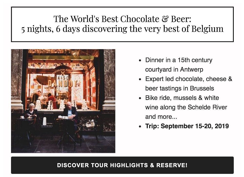 Join Tailored Tours and Vinepair in Belgium this Septmber!