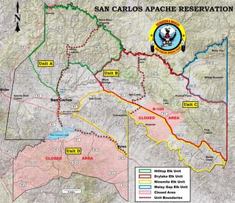 San Carlos Apache Tribe Unit Map