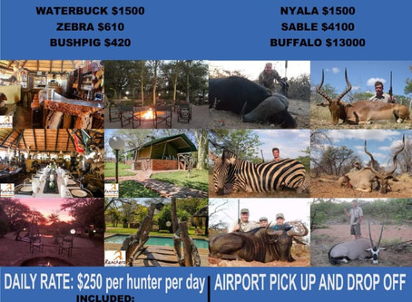 Limpopo Hunting Prices - Discount Deal!