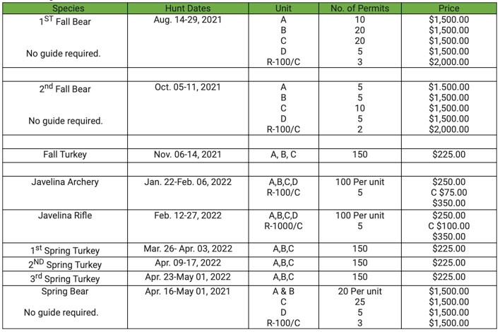 San Carlos 2021 dates tags cost.