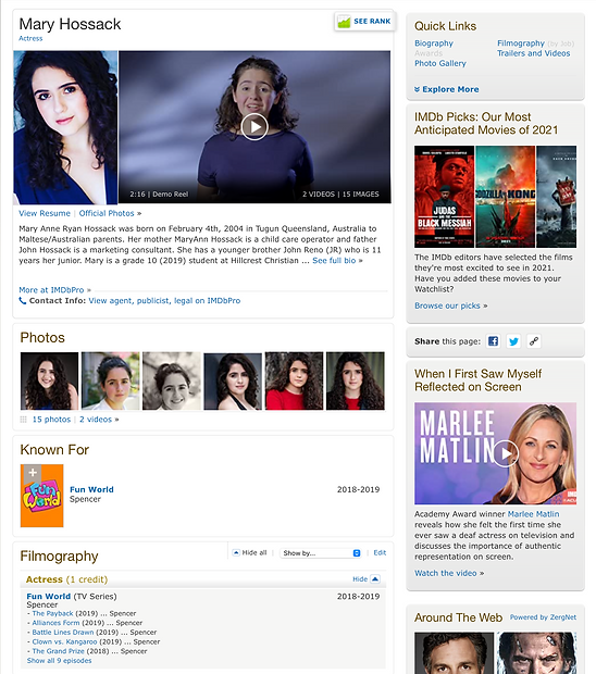 IMDB Mary Hossack Gold Coast Actress.png