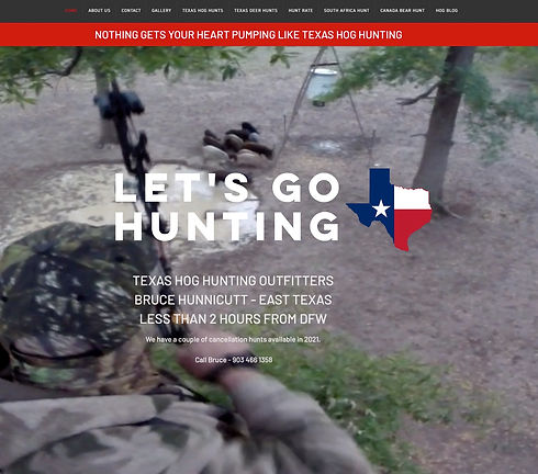 Outfitter Website Design Client Texas Hog Hunting Outfitters Website & M