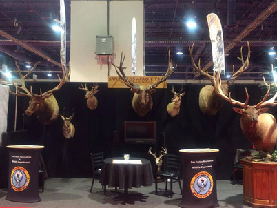 San Carlos Apache Tribe Hunting Convention Expo Booth