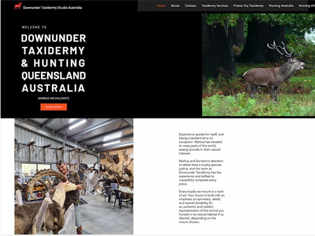 New Taxidermy Website For Downunder Taxidermy Studio