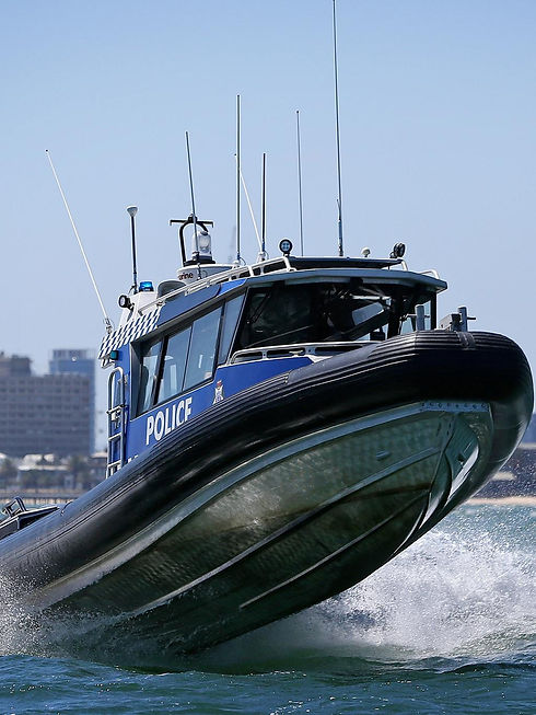 Victoria Water Police Checking Boat Lice