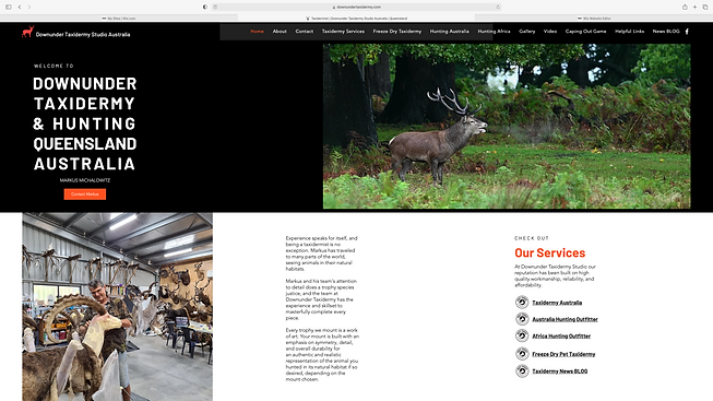 Downunder Taxidermy Studio Queensland Au
