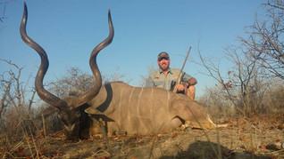 Kudu Trophy Bull Client Dave & Ranchero Safaris Limpopo