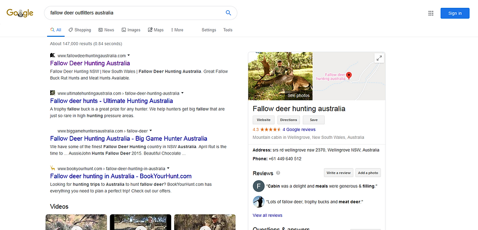Example Of SEO AussieJohn Websites www.a