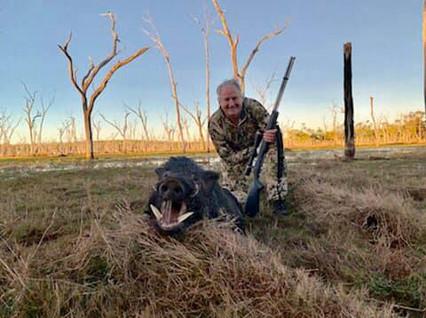 AussieJohn Hunts Black Powder Wild Boars