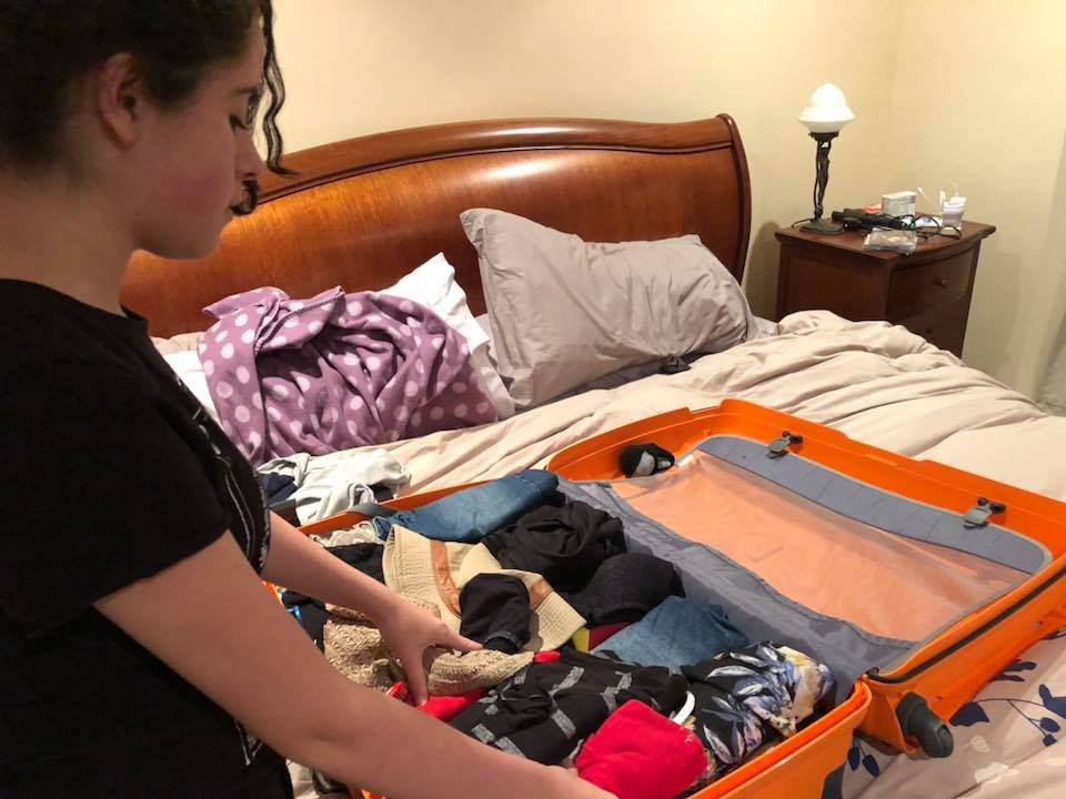 Queensland Actress Mary Hossack Packing For The USA Sept 2018