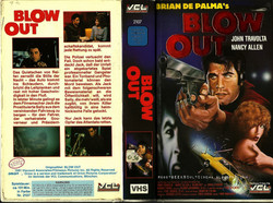 Blow Out German VHS Cover