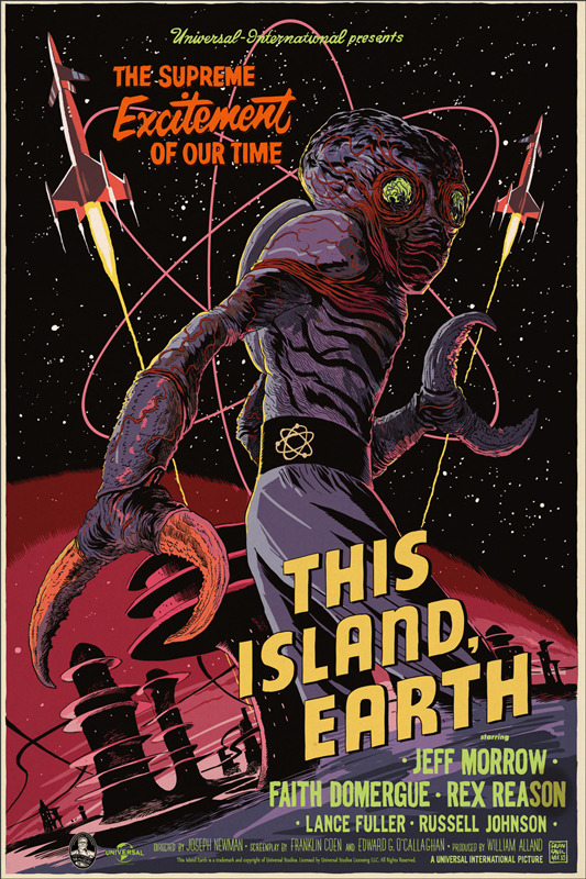 Francesco-Francavilla-This-Island-Earth-Poster-Mondo