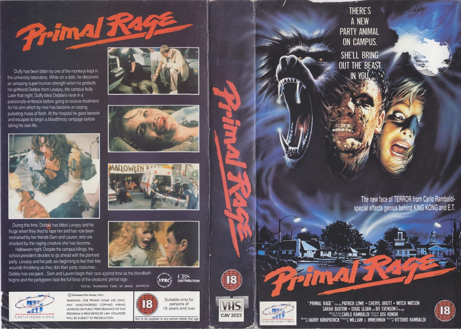 Primal Rage UK VHS cover