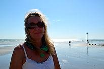 Caroline Bonar on her local beach
