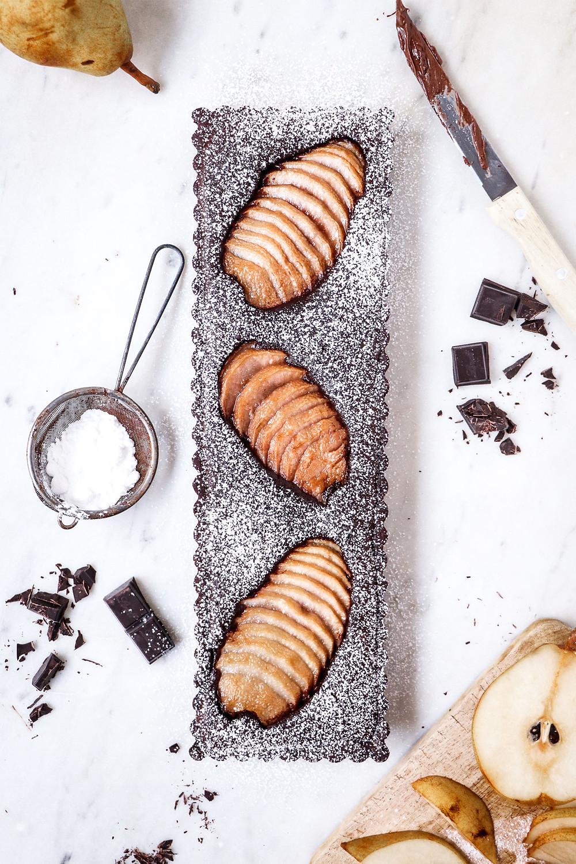 Tarte poires et chocolat, Elodie's Bakery