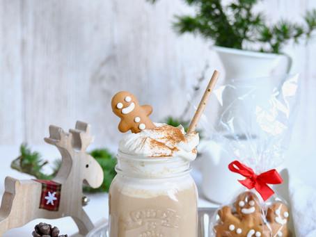 Gingerbread coffee latte