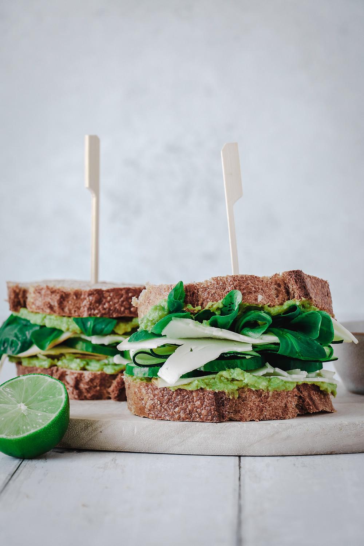 Green goddess sandwich - Sandwich légumes verts, Elodie's Bakery