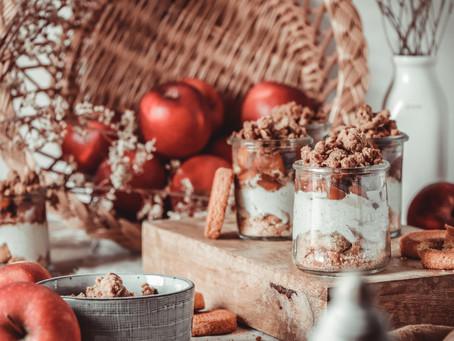 Crumble pommes et potimarron, chantilly vanillée