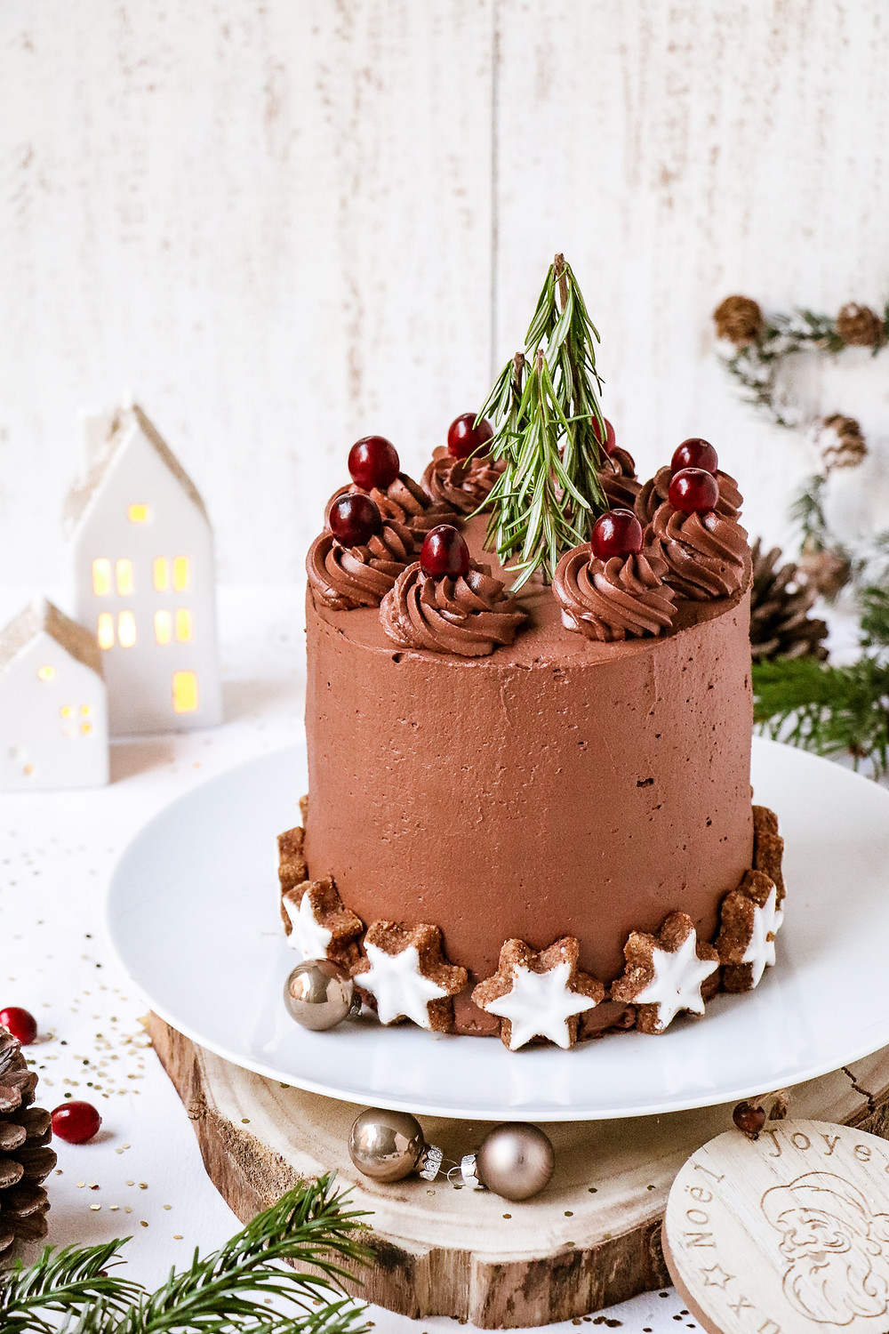 Layer cake chocolat et canneberges, Elodie's Bakery