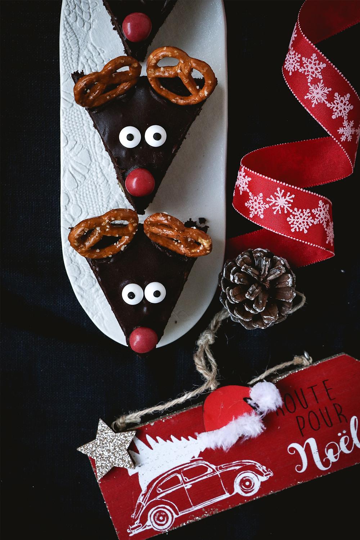 Brownie Rennes de Noël