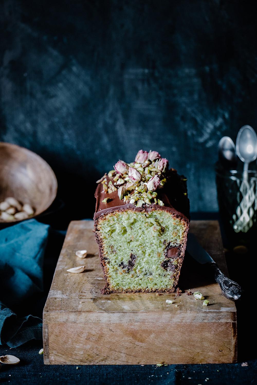 Cake pistache chocolat_Elodie's Bakery