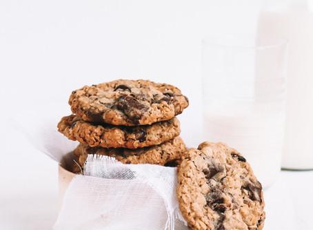 Cookies aux flocons d'avoine, chocolat et cranberries
