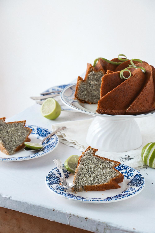 Bundt cake citron vert pavot, Elodie's Bakery