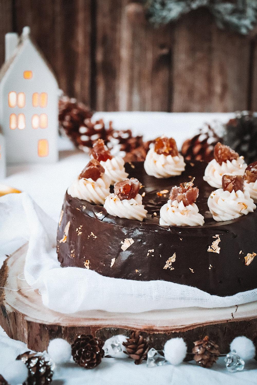 Cheesecake de Noël, marrons glacés, Elodie's Bakery