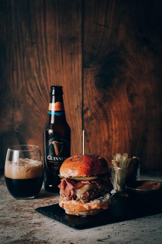 New York steakhouse burger, Elodie's Bakery
