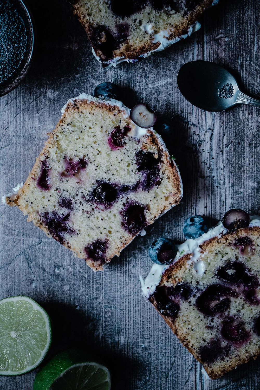 Cake aux myrtilles, Elodie's Bakery