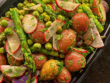 Super Vibrant Spring Potato Salad