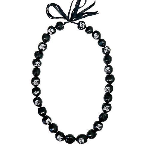 Black with White Class of 2020 Kukui Nut Lei