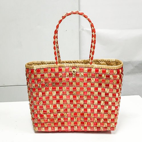 Lauhala Bag w/ Color Pattern Print #7