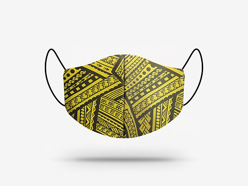 Poly Tatau Print Cotton Face Mask #2