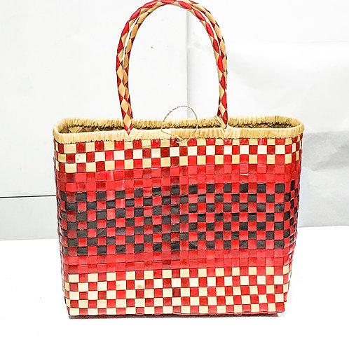 Lauhala Bag w/ Color Pattern Print #10