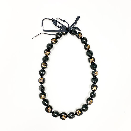 Black with Gold Class of 2020 Kukui Nut Lei