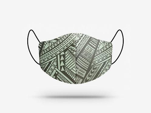 Poly Tatau Print Cotton Face Mask #6