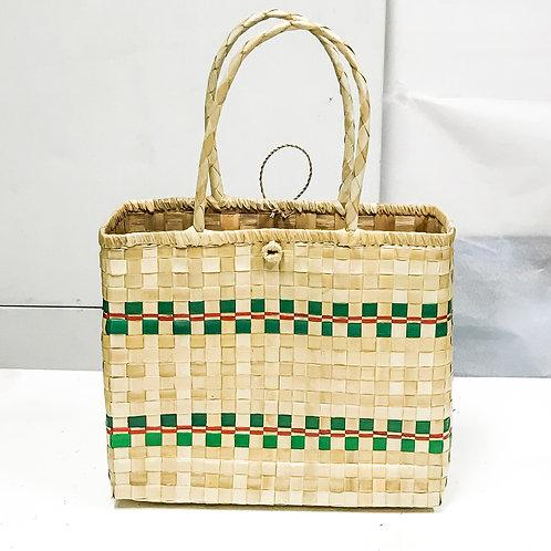 Lauhala Bag w/ Color Pattern Print #4