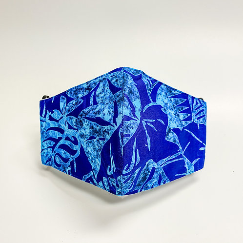 Blue & Light Blue Poly Print Face Mask