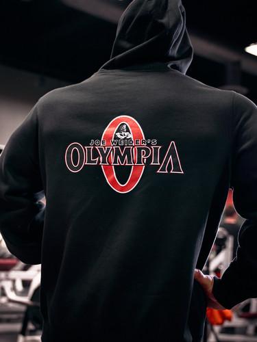 Olympia Black Full-Zip Hooded Fleece Jacket