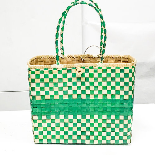 Lauhala Bag w/ Color Pattern Print #8