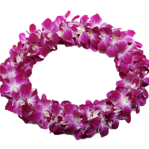 Double Orchid Lei or Similar