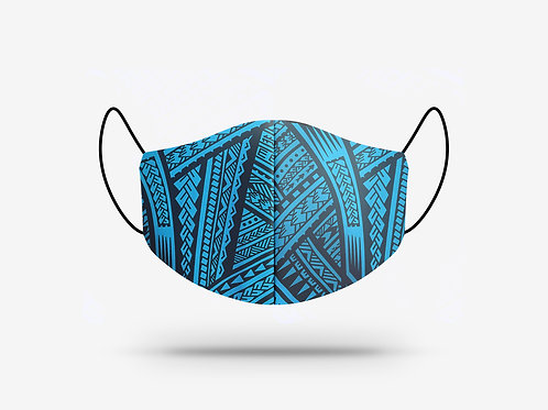 Poly Tatau Print Cotton Face Mask #1