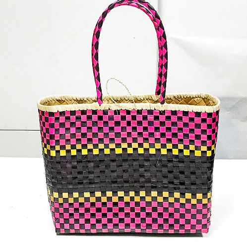 Lauhala Bag w/ Color Pattern Print #11