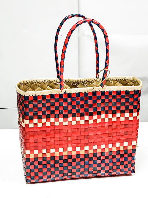 Lauhala Bag w/ Color Pattern Print #6