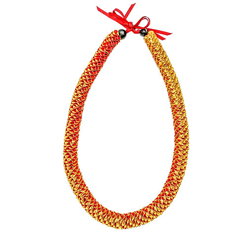 Red & Gold Ilima Lei